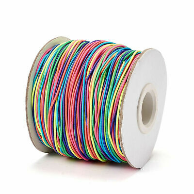 $ CDN12.70 • Buy 100m/Roll Elastic Beading Cords Round Colorful Rubber Inside Strechy Threads 1mm