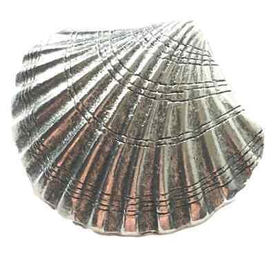 £6 • Buy Medieval Scallop Shell Pilgrim Pewter Lapel Pin Badge W/A SHELLPPIN
