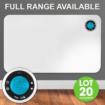 Electric Panel Heater Radiator Thermostat With Timer Wall Mounted Portable Slim • 54.95£