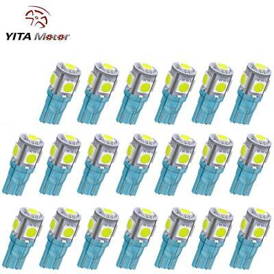 $7.21 • Buy 20x LED Bulbs T10 5050 5SMD Ice Blue Clearance Cab Marker Interior Light Lamp