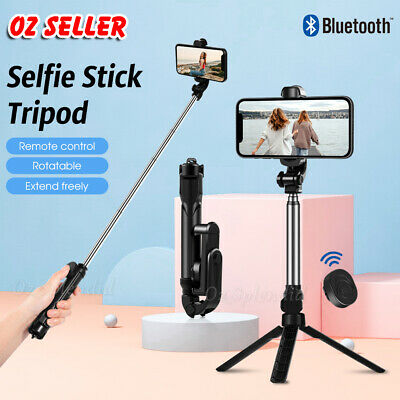 AU16.49 • Buy Monopod Selfie Stick Handheld Tripod Bluetooth Shutter For Apple IPhone Samsung