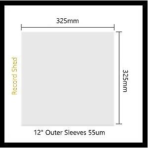 AU7.20 • Buy 20 X RECORD SLEEVE PLASTIC COVER OUTER For Vinyl LP's 12  Albums Aust Made Clear