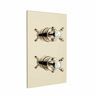 Bristan 1901 Thermostatic Recessed Dual Control Shower Valve Only - Gold • 291.95£