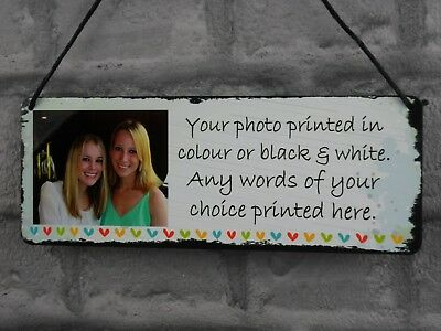£6.99 • Buy Photo Plaque Frame Personalised Friendship Sister Gift Best Friend Quote Metal