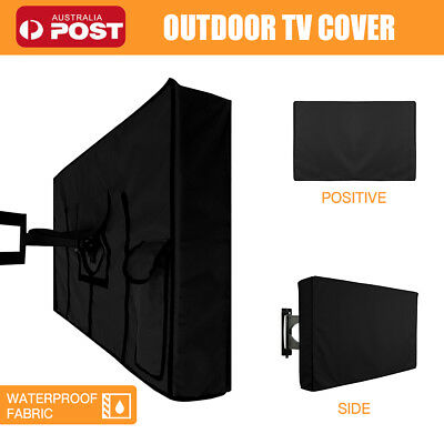 AU25.99 • Buy 30 -65  Inch Waterproof TV Cover Outdoor Patio Flat Television Protector Black