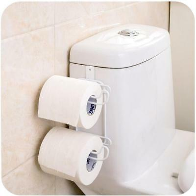 Metal Over The Tank Cistern Hanging Double Dual Toilet Roll Paper Tissue Holder • 6.83£