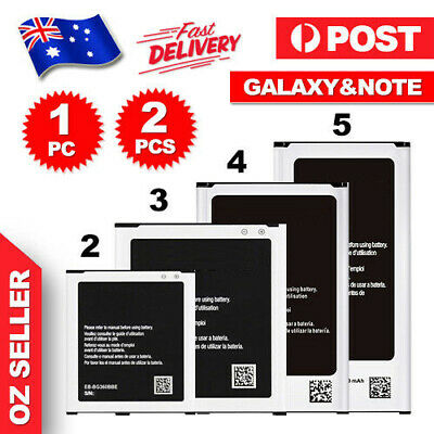 AU10.95 • Buy New Genuine OEM Li-ion Replacement Battery For Samsung Galaxy S3 S4 S5 Note 3 4