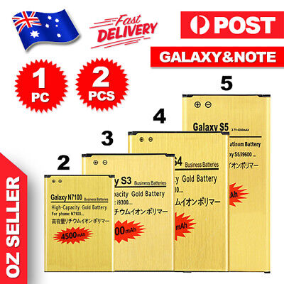 AU8.55 • Buy New GOLD Li-ion Replacement Battery For Galaxy S3 S4 S5 S6 Note 3 4 Edge