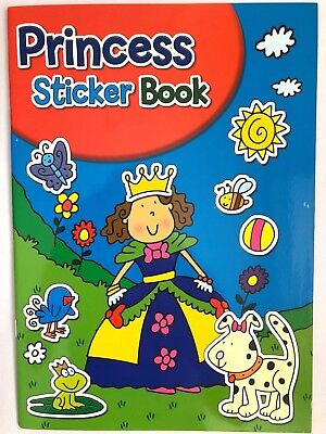 Children Princess Colouring Stickers Activity Book Dot To Dot Counting Kids A4  • 1.99£
