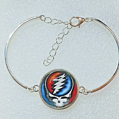 $17.99 • Buy Grateful Dead Steal Your Face Silver Alloy Bracelet Jewelry