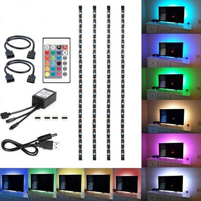 $12.99 • Buy 4Pcs USB Powered RGB 5050 LED Strip Lighting For TV Computer Background Light