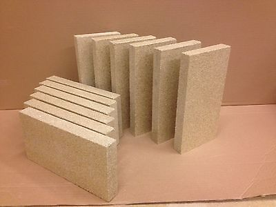 £7.49 • Buy 4 X Vermiculite Stove Fire Bricks Compatible With Villager Stoves 4.5  X 9  X 1