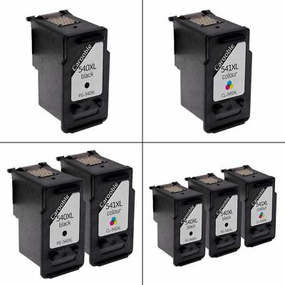 Canon PG-540XL & CL-541XL Ink Cartridges Remanufactured For Canon PIXMA Printers • 16.95£