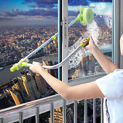 U-type Telescopic High Rise Window Cleaner Glass Dust Cleaning Brush Squeegee • 14.95£