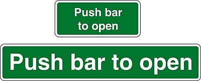 £3.80 • Buy Push Bar To Open Stickers Large X 2 And Small X 2
