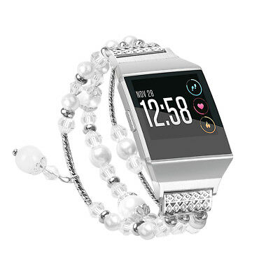 $ CDN19.75 • Buy Fitbit Ionic Replacement Pearl Diamond Metal Strap Elegant Wrist Band
