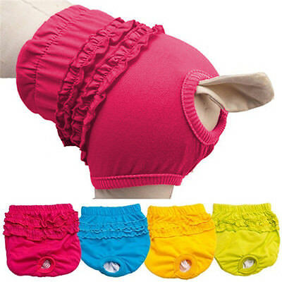 Female Dog Puppy Nappy Diaper Belly Wrap Band Sanitary Pants Underpants XS-L • 4.59£