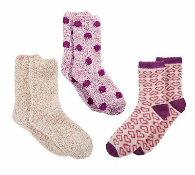 $13.99 • Buy Charter Club Womens Super Soft Fluffy Socks 3 Pairs 3 Designs/Color Lot Of 3 NWT