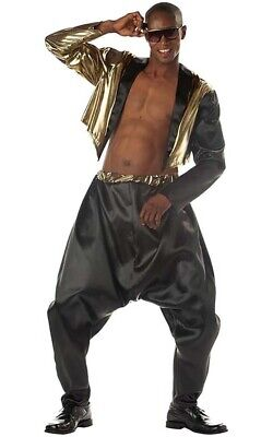 AU56.50 • Buy Old School Rapper Mc Hammer Adult Mens 90s Fancy Dress Halloween Costume