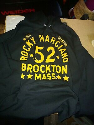 $23.99 • Buy NEW  ROCKY BROCKTON MASS MARCIANO BOSTON BOXING Hoodie Hooded Sweatshirt GYM BAR