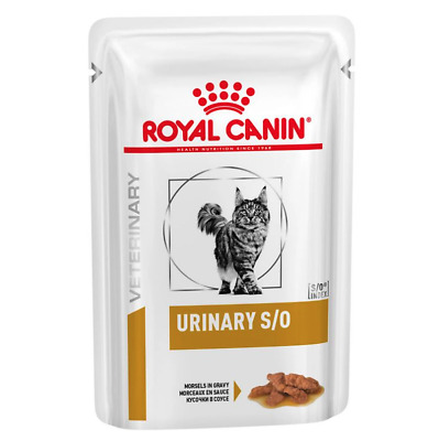 ROYAL CANIN VET DIET FELINE URINARY S/O Wet Cat Food POUCH - BEST PRICE!! • 16.60£