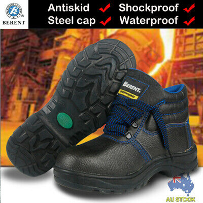 AU29.99 • Buy Safety Boots Steel Toecap Antiskid Breathable PU Sole High Ankle Work Shoes