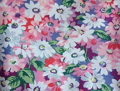 Cath Kidston, Painted Daisies, 100% Laminated Cotton Duck Fabric By The Metre • 7.24£