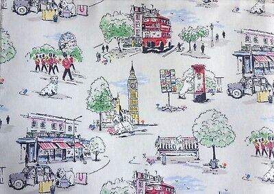 Cath Kidston, Billie Goes To Town,100% Laminated Cotton Duck Fabric By The Metre • 15.92£