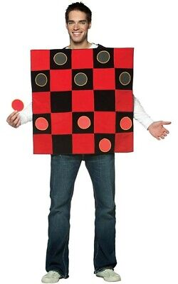 Adult Mens Chinese Checkers Draughts Board Game Fancy Dress Halloween Costume • 31.62£