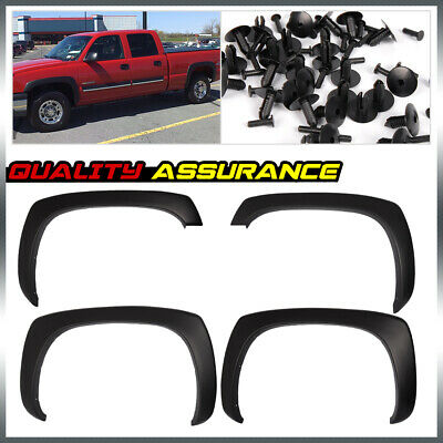 $61 • Buy Matte Black OE Style Fender Flares For 1999-2006 GMC Sierra Chevy Silverado