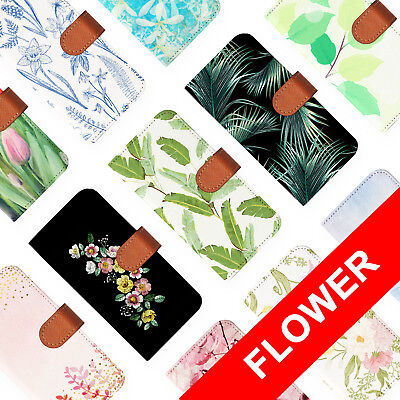 AU12.99 • Buy Leather Wallet Card Holder Folio Case For Apple Iphone 6 7 8 X Plus Flower