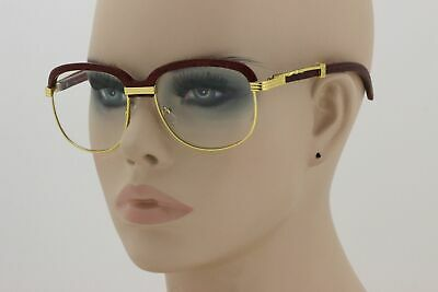 721467e75302 Retro Wood Buffs Vintage Style SUN GLASSES Square Gold Frame Clear Lens New  • 10.95