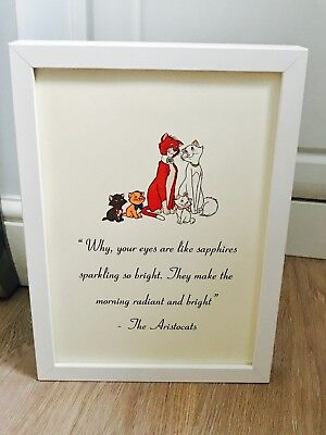 Disney's The Aristocats Quote  Print Or Framed Black Or White A4 Art Gift Home • 3.99£