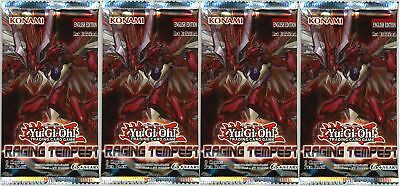 YuGiOh! Raging Tempest 1st Edition New And Sealed Booster Packs X4 • 8.53£