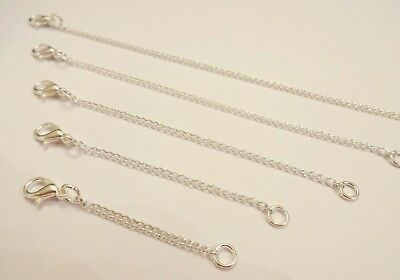 £1.99 • Buy Silver Plated Necklace Or Bracelet Extender 2  3  4  5 Extension Chain Up To 20