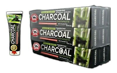 AU26.64 • Buy 6 Tubes Bamboo Charcoal Black Toothpaste Natural Teeth Whitening Oral Care