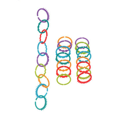 Rainbow Teether Ring Links Plastic Baby Infant Stroller Gym Play Mat Toys • 4.74£