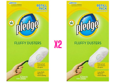 Pledge Fluffy Dusters Refill Pads Double Pack - 5 Pack X2 • 12.99£
