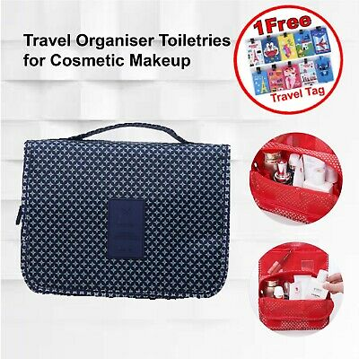 AU8.54 • Buy Navy Star Travel Toiletry Cosmetic Makeup Purse Wash Organiser Bag With Hook