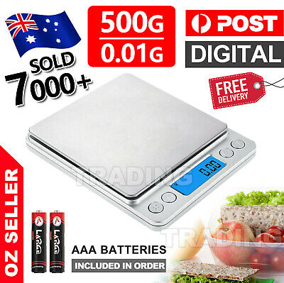 AU18.95 • Buy 0.01-500g Kitchen Food Scales Digital LCD Electronic Balance Weight Postal Scale