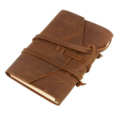 AU26.99 • Buy Vintage Bound Handmade Leather Cover Journal TRAVEL Notebook Travellers Diary
