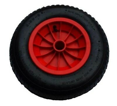 £9.99 • Buy 14  RED PNEUMATIC WHEELBARROW WHEEL WITH 35mm BORE (3.50/4.00-8) Replacement