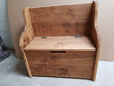 Rustic Plank Style Monks Bench With Storage  Settle/Pew  Bespoke Sizes Available • 250£