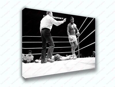 $39.99 • Buy Mike Tyson Boxing Knockout Black And White Poster Canvas Print Art Decor Wall