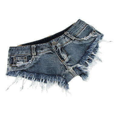 Prettyia Women Low Waist Shorts Mini Hot Pants Jeans Micro Denim Beach Short • 8.07£