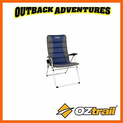 AU79 • Buy OZTRAIL CASCADE 5 POSITION CHAIR BLUE CAMPING 150kg NEW MODEL