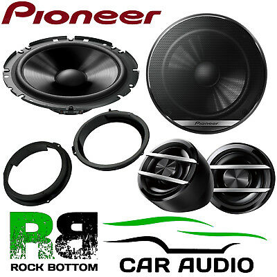 Pioneer Ford Transit Custom 2012 On 600W Component Kit Front Door Car Speakers • 64.99£