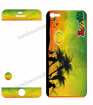 IPHONE Case 5 Resin 3D Stickers Repositionable Bob Marley Reggae No. 47 • 8.50£