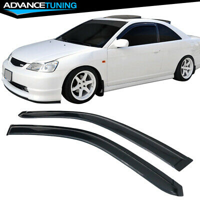 $28.99 • Buy Fits 01-05 Honda Civic Coupe Acrylic Window Visors 2Pc
