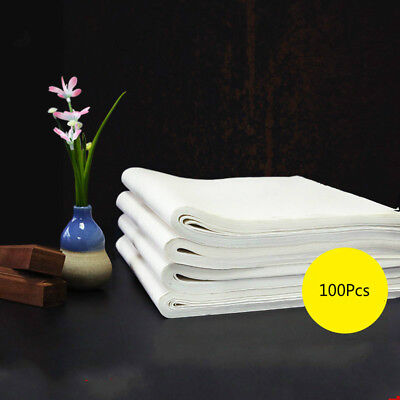 100Pcs Chinese Xuan Paper Calligraphy Painting Rice Paper Brush Ink Writing Tool • 18.75£